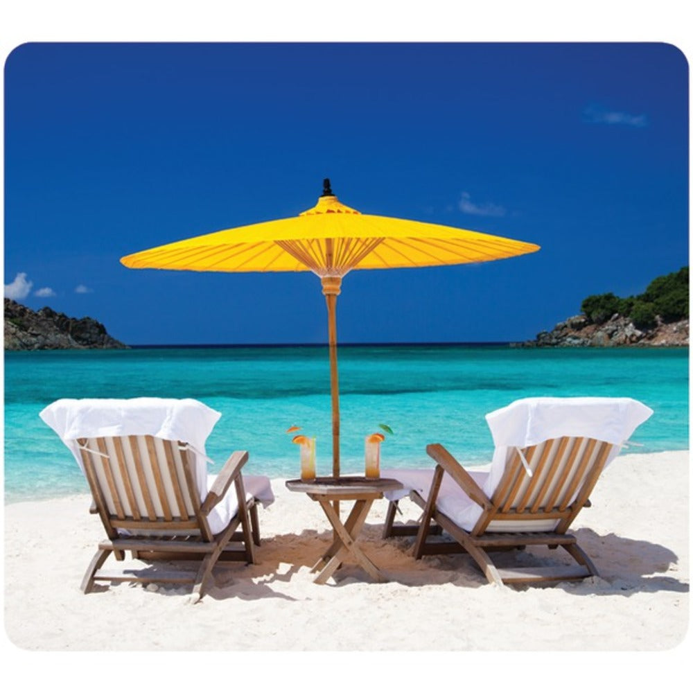 Fellowes 5916301 Recycled Mouse Pad (Caribbean Beach) - GadgetSourceUSA