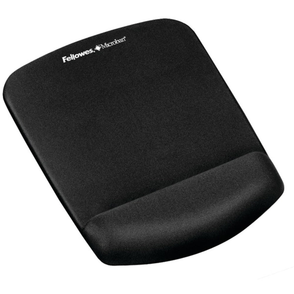 Fellowes 9252001 PlushTouch Mouse Pad Wrist Rest with FoamFusion (Black) - GadgetSourceUSA