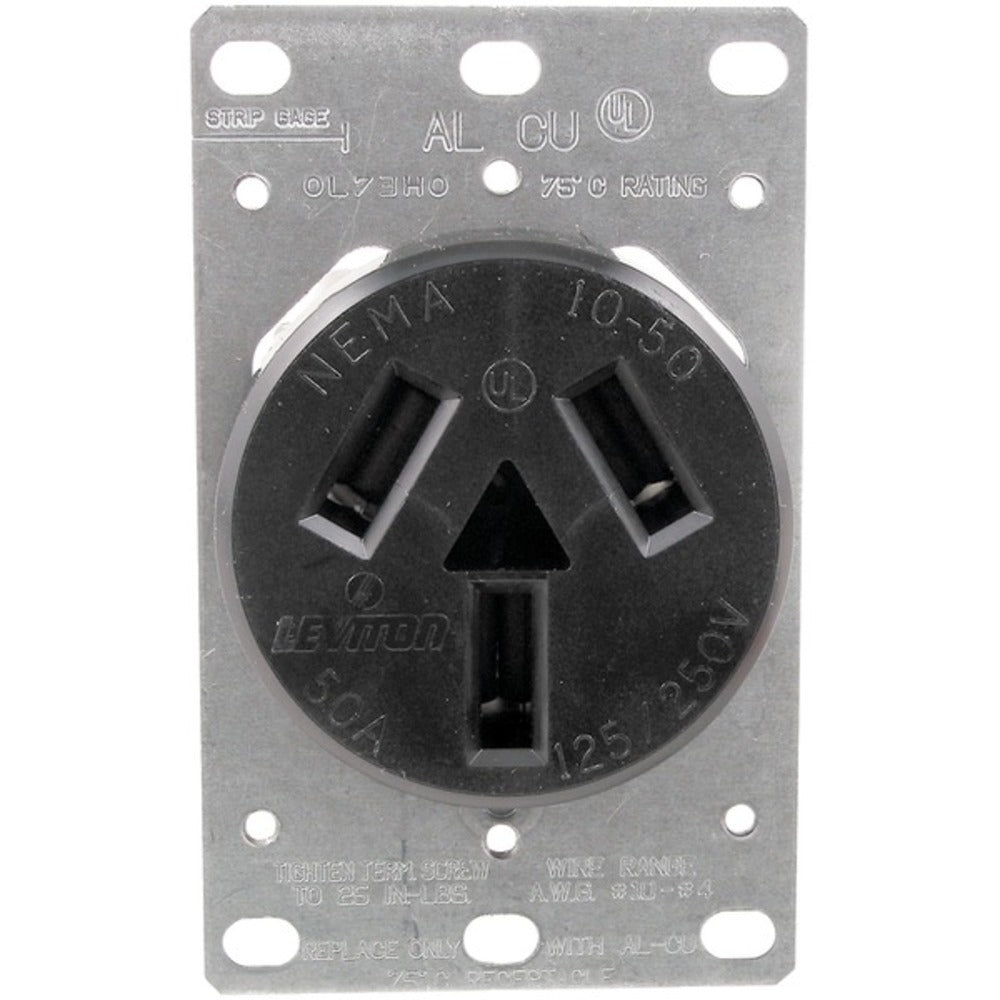 No Logo 5206 Single-Flush Range Receptacle (3 wire) - GadgetSourceUSA