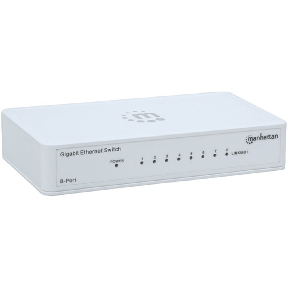 Manhattan 560702 Gigabit Ethernet Switch (8 Port) - GadgetSourceUSA