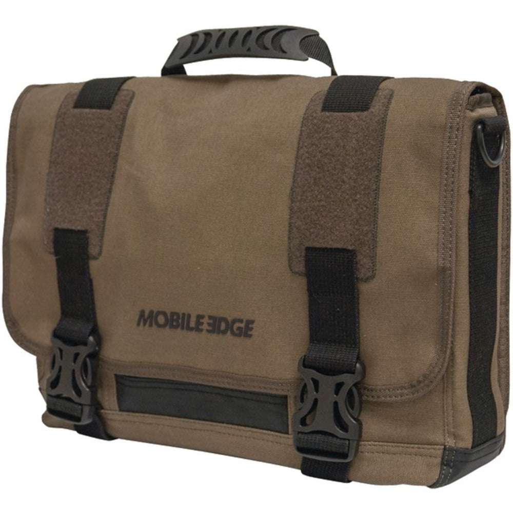 "Mobile Edge MEUME9 14"" PC/15"" MacBook Pro ECO Chromebook/ Ultrabook Messenger Bag (Olive) - GadgetSourceUSA"