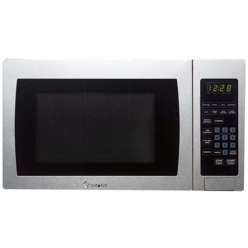Magic Chef MCM990ST .9 Cubic-ft, 900-Watt Microwave with Digital Touch (Stainless Steel) - GadgetSourceUSA