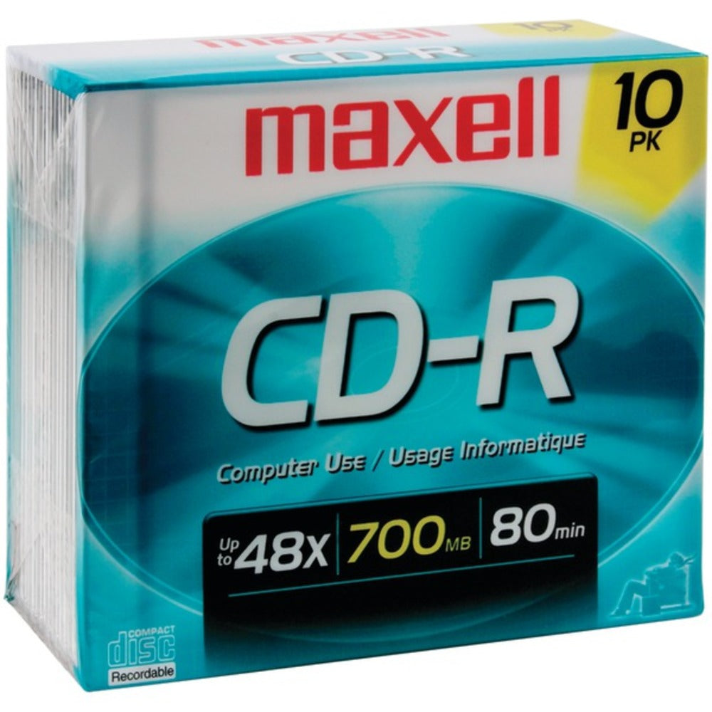 Maxell 622860/648210 700MB 80-Minute CD-Rs (10 pk) - GadgetSourceUSA