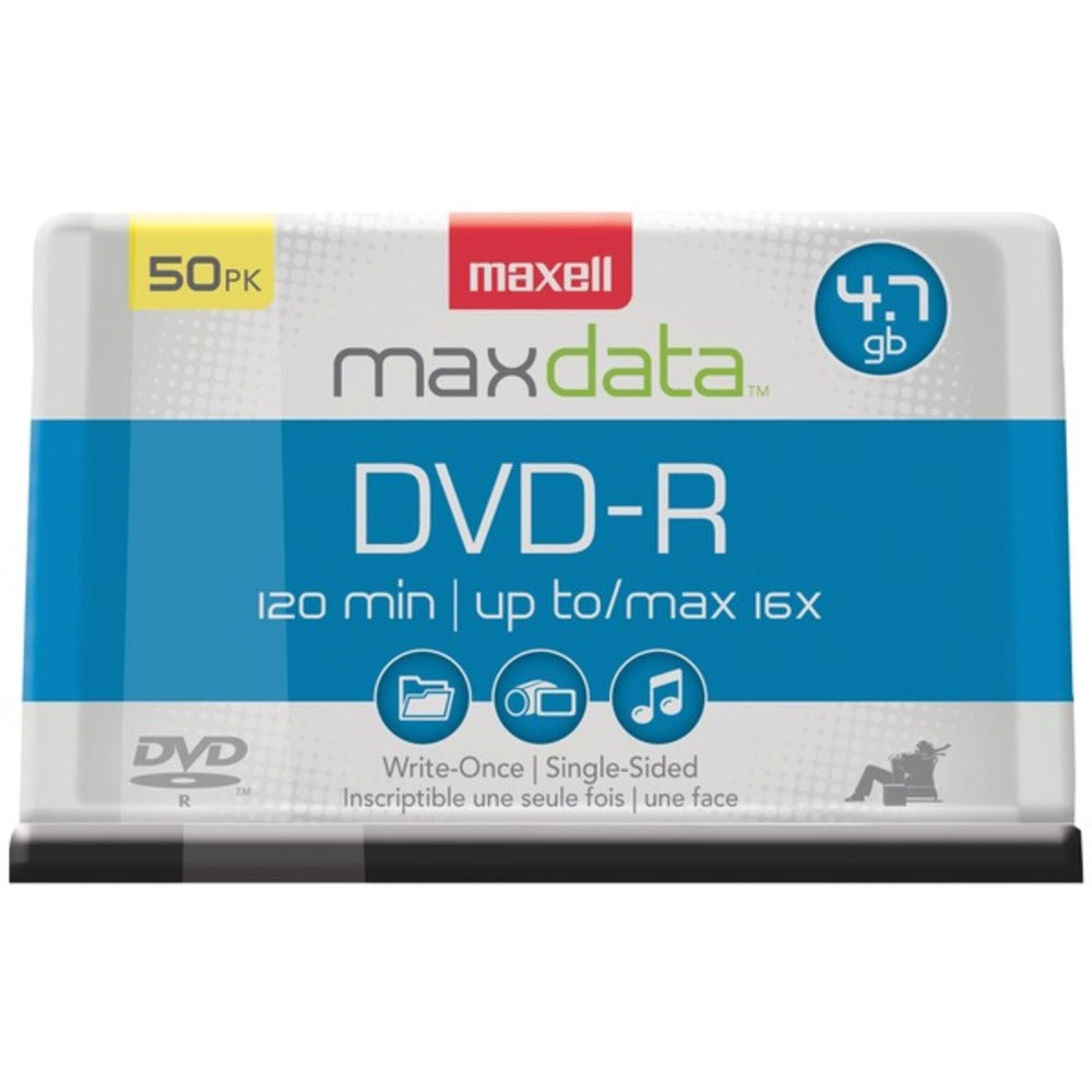 Maxell 638011 4.7GB 120-Minute DVD-Rs (50-ct Spindle) - GadgetSourceUSA