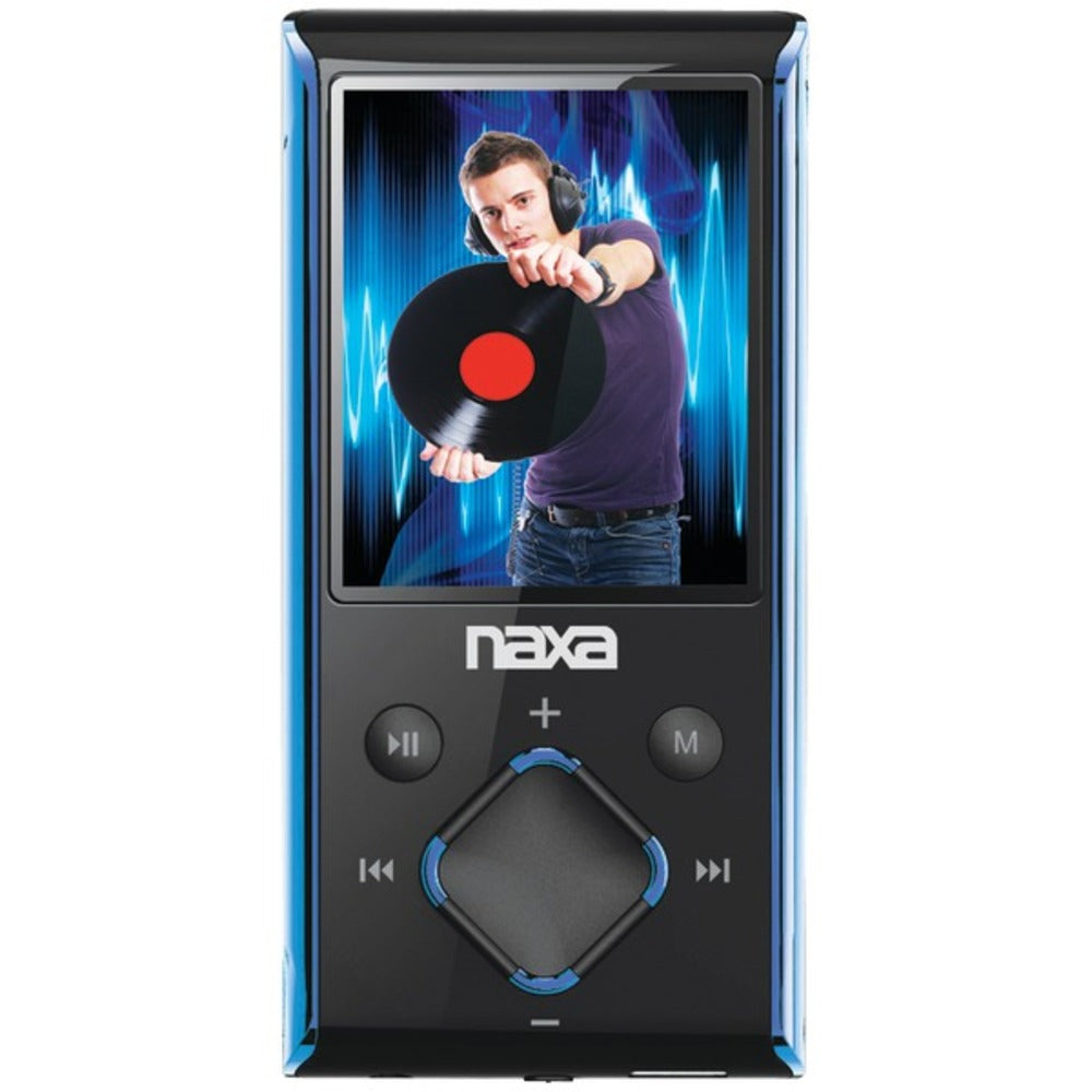 "Naxa NMV173NBL 4GB 1.8"" LCD Portable Media Players (Blue) - GadgetSourceUSA"