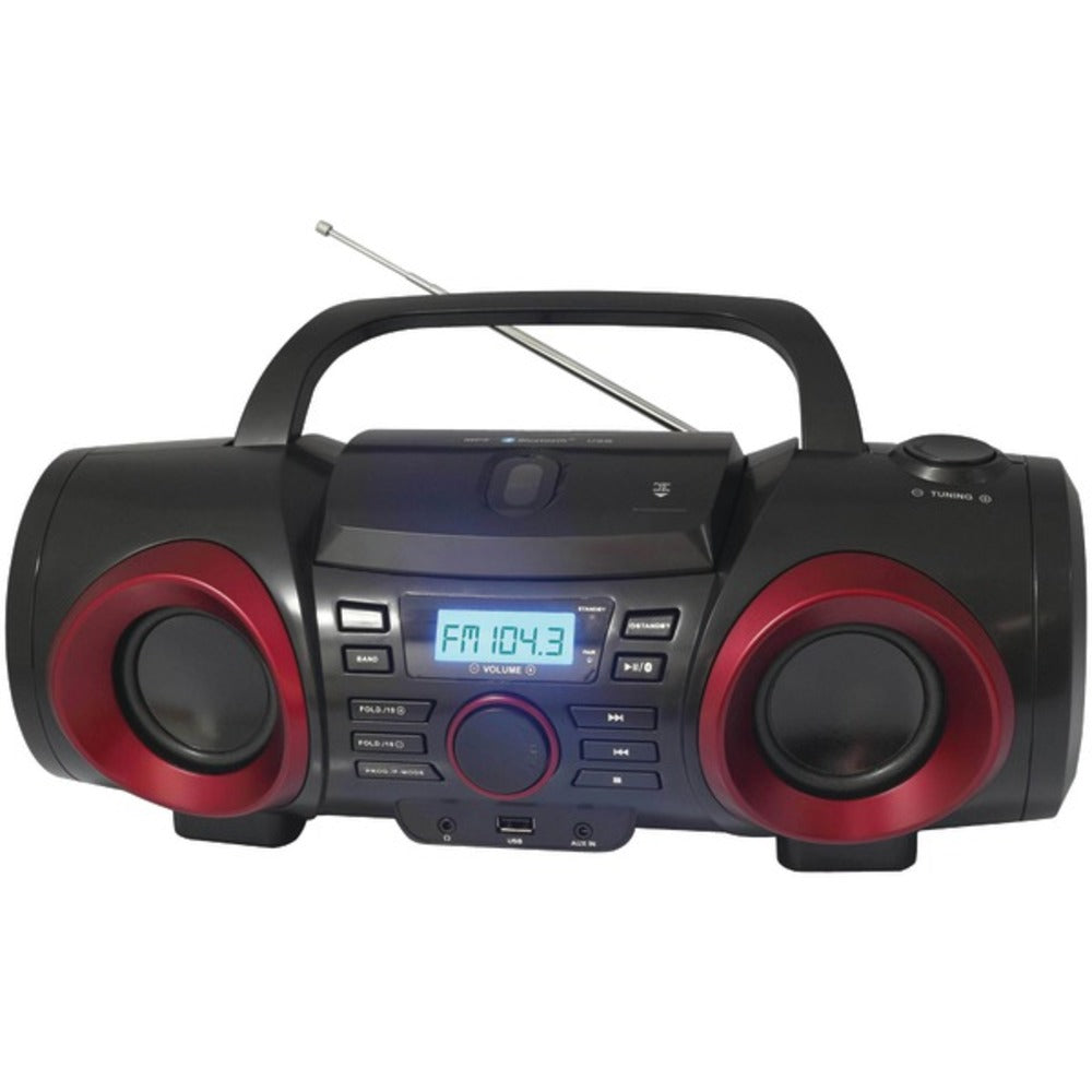 Naxa NPB-267 MP3/CD Classic Bluetooth Boom Box - GadgetSourceUSA