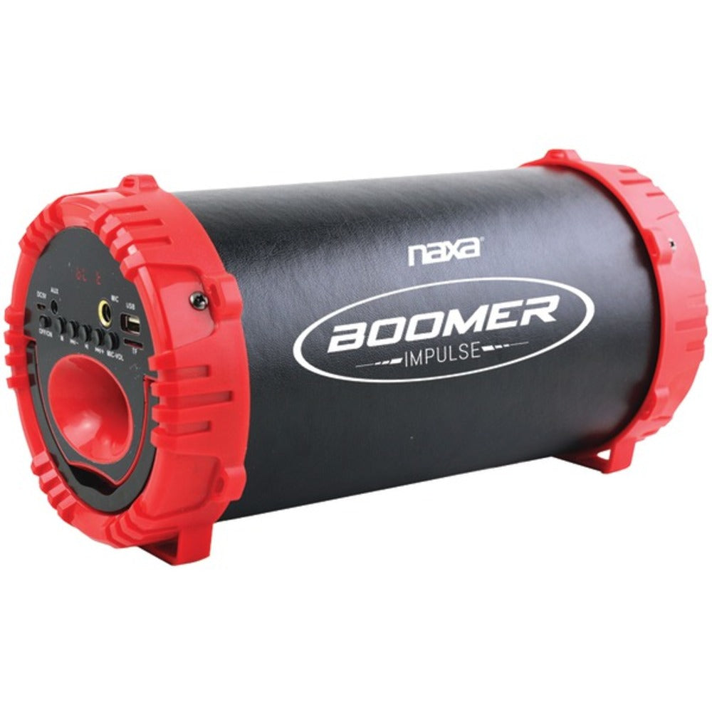 Naxa NAS-3084 RED BOOMER IMPULSE LED Bluetooth Boom Box (Red)