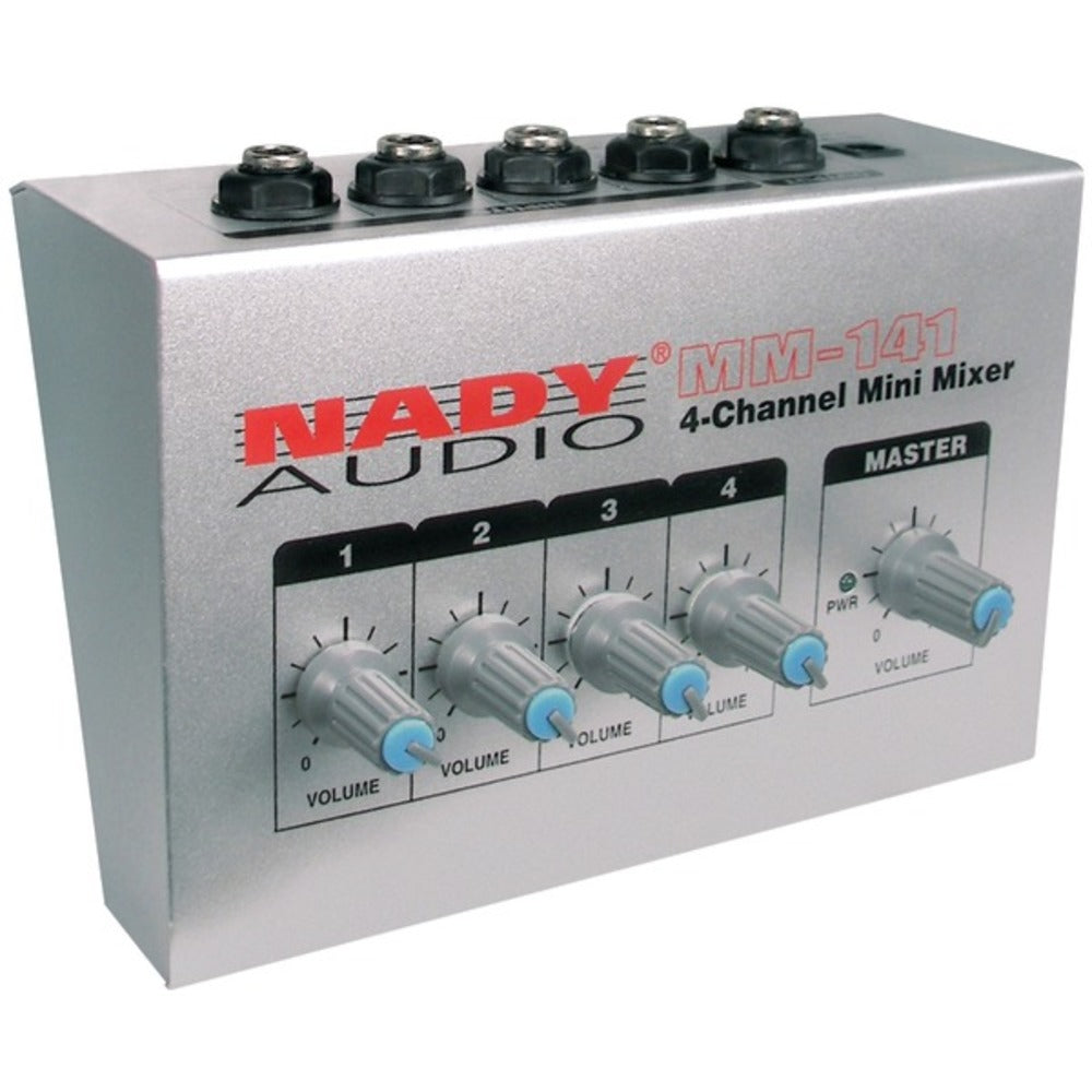 Nady MM-141 4-Channel Mini Audio Mixer - GadgetSourceUSA