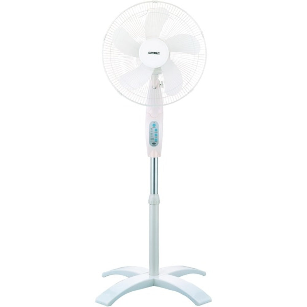 "Optimus F-1760 16"" Wave Oscillating Stand Fan (With Remote) - GadgetSourceUSA"