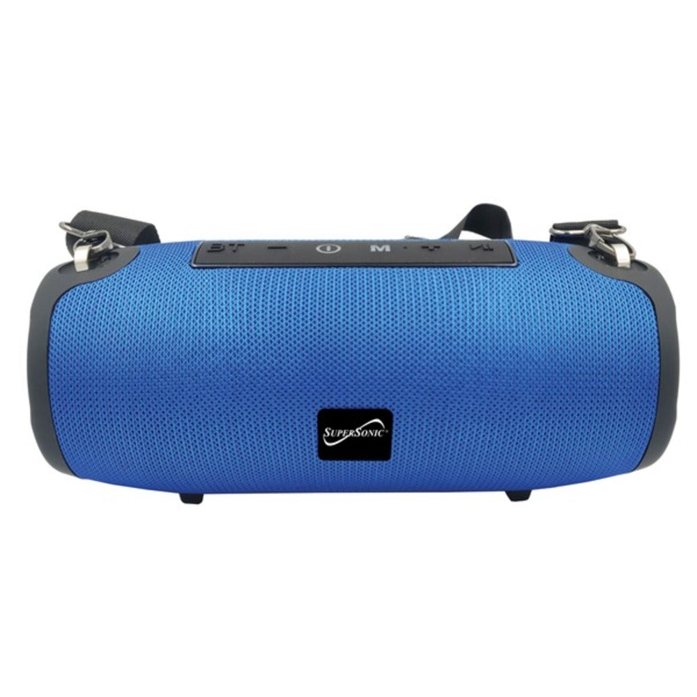 Supersonic SC-2327BT- Blue Portable Bluetooth Speaker with True Wireless Technology (Blue) - GadgetSourceUSA
