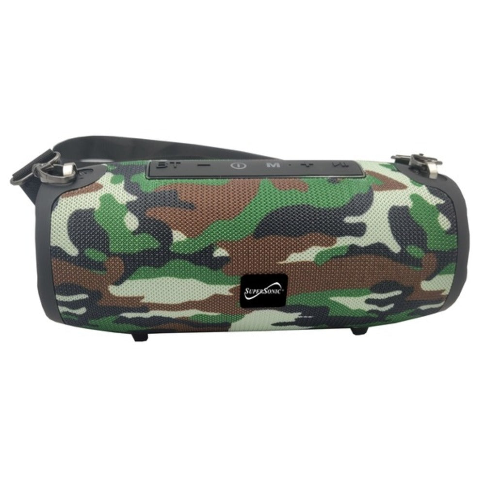 Supersonic SC-2327BT- Camo Portable Bluetooth Speaker with True Wireless Technology (Camo)