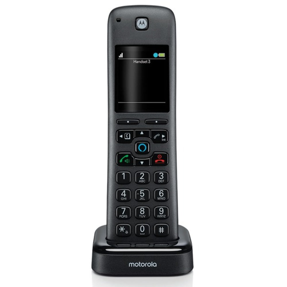 Motorola AXH Additional Handset for AX Series of Smart Cordless Phones and Answering Machines with Alexa Built-in - GadgetSourceUSA