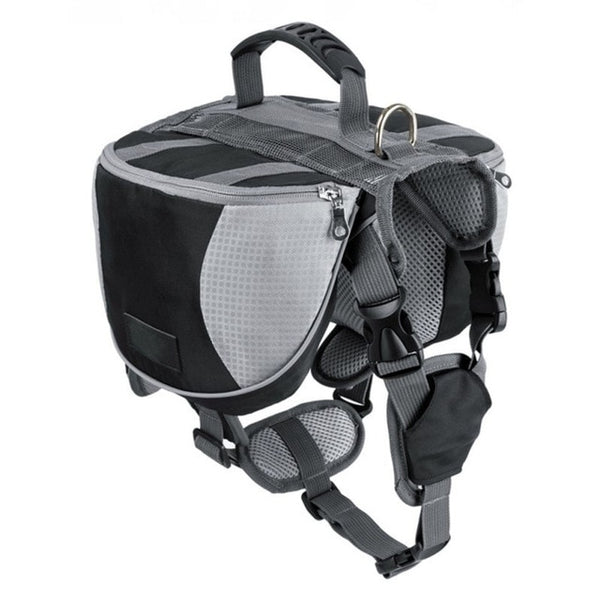 Dog Back Pack |  Dog Carrier Backpack | Travel, Hiking Backpack | Reflective With Double Bags | Easy To Control - GadgetSourceUSA