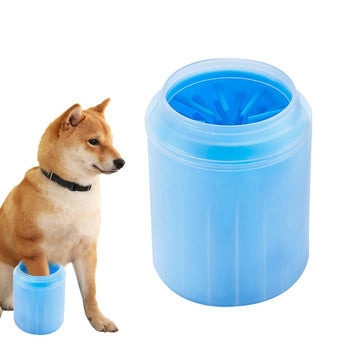 Paw Washer for Dogs/Cats | Paw Cleaning Cup with Soft Silicon Brush | Pet Cleaning Tool - GadgetSourceUSA