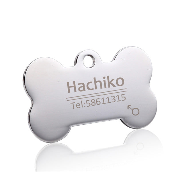 Free engraving Pet Dog cat collar Pet ID Dog Tags Collars stainless steel  cat tag customized - GadgetSourceUSA