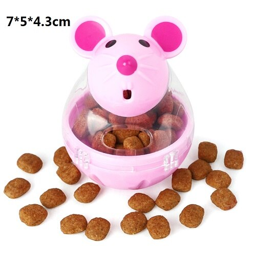 Pet Food Dispenser | Dog Treat Interactive Dispenser Toy | Dog / Cat Food Ball - GadgetSourceUSA