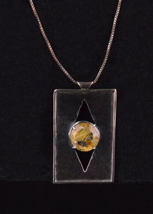 3rd Eye Sterling Necklace & rutilated quartz pendant - Live for the Ride