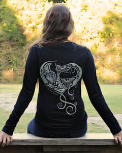 Baby Girl Heart Horse Long Sleeve T - Live for the Ride