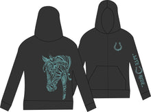 Zip-Up BoHo Horse Hooded Jacket - Live for the Ride