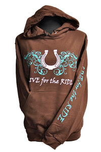 Horseshoe Horse Hoodie - Live for the Ride