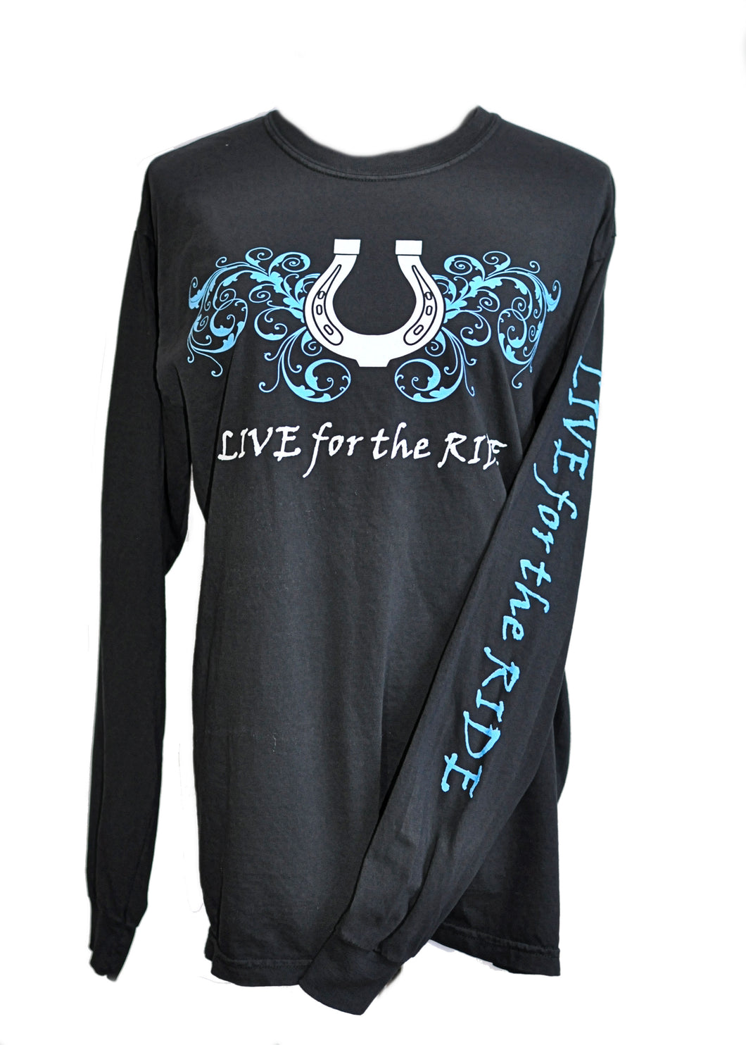 Highlighter Horseshoe LONG Sleeve T-shirt - Live for the Ride