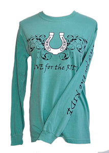 Horseshoe LONG Sleeve T-shirt - Live for the Ride