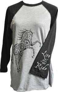 Paisley Pony Baseball Jersey - Live for the Ride