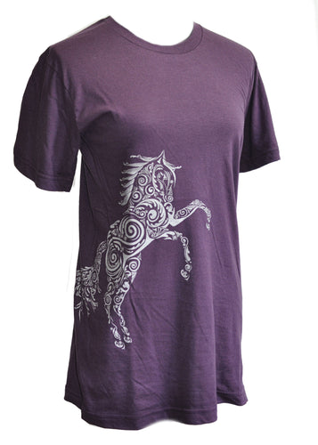 Paisley Pony Horse T-shirt Unisex Cut - Live for the Ride