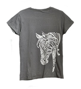 BOHO Horse T-shirt WOMEN'S Cut - Live for the Ride