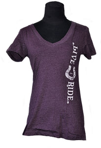 BOHO Horse T-shirt JUNIOR Cut - Live for the Ride