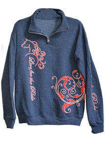 Zophie 1/4 Zip Cadet Collar Horse Sweatshirt - Live for the Ride