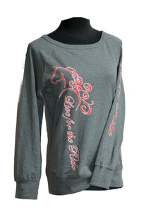 Zophie Jr Cut Boat Neck Horse Sweatshirt - Live for the Ride
