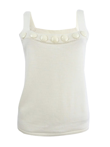Sutton Studio Womens Knit Square Neck Shell Tank Top Misses