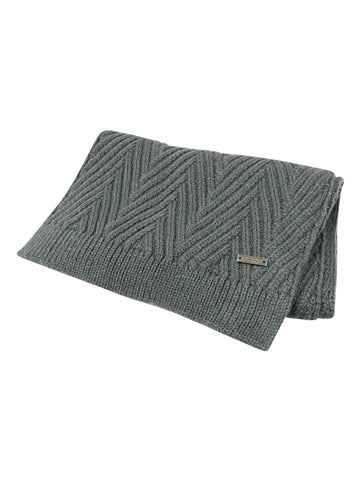 Ryan Seacrest Distinction Men's Herringbone Stitch Scarf (Gray, OS)