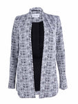 Calvin Klein Women's Textured Print Open Front Long Jacket