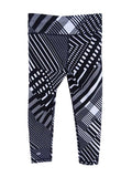 Tommy Hilfiger Women's Sport Printed Leggings (XS, Black)