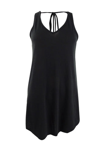 Miken Women's Tie-Back Cover-Up Dress Swim Cover-Up