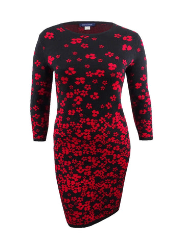 Tommy Hilfiger Women's Floral Sweater Dress