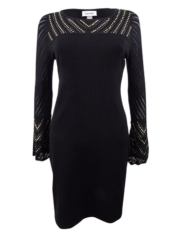 Calvin Klein Women's Studded Sweater Dress