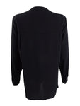 Anne Klein Women's Bow-Neck Button-Front Blouse (2, Anne Black)