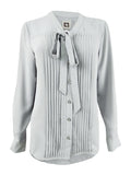 Anne Klein Women's Bow-Neck Button-Front Blouse
