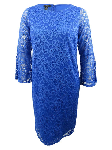Alfani Women's Plus Size Lace Bell-Sleeve Sheath Dress