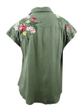 Style & Co. Women's Plus Size Embroidered Shirt