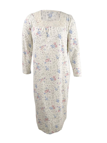 Charter Club Women's Printed Fleece Nightgown