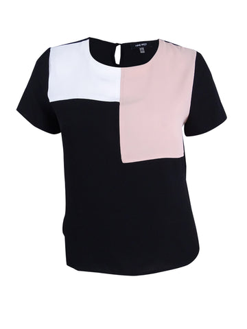 Nine West Women's Color Block Blouse
