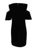 Ralph Lauren Women's Velvet Cold-Shoulder Shift Dress