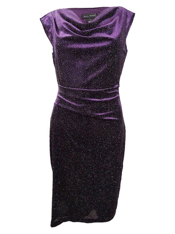 Jessica Howard Women's Disco Velvet Sheath Dress