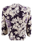 Jessica Howard Women's Floral-Print Jacket 6, Eggplant
