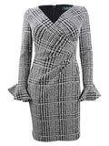Lauren by Ralph Lauren Women's Plaid Ruched Dress