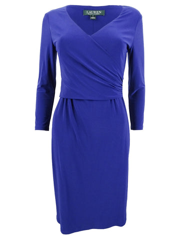 Lauren by Ralph Lauren Women's Surplice Jersey Dress